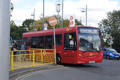 GAL 158 Orpington train station (ianjpoole) Tags: goahead london metrobus alexander dennis enviro 200 yx60fva 158 working route r1 high street green grovelands road st pauls cray