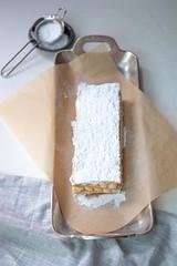 Pumpkin Napoleon (DaydreamerDesserts) Tags: thanksgiving dessert pumpkin french puff pastry diplomat cream mille feuille