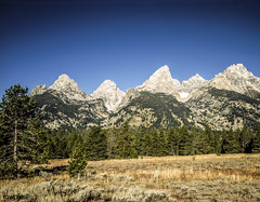 Craggy peaks of Grand Teton National Park, Wyoming. Original image from Carol M. Highsmith's America, Library of Congress collection. Digitally enhanced by rawpixel.