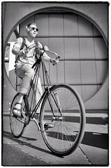 Easy Rider (Andy J Newman) Tags: berlin bike blackandwhite boy cyclist d500 germany man monochrome nikon silverefex vulturelabs