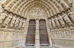 Notre Dame cathedral (abtabt) Tags: france paris church cathedral catholiccathedral architecture parisbanksoftheseine worldheritage notredame notredamedeparis d700sigma1224 front door sculpture