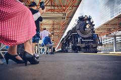 The Grand Entrance (benpsut) Tags: 765 nkp765 trains railroad polkadot chicago lasallestreetstation station steam steamtrain passenger passengertrain nickelplateroad