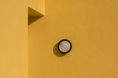 Lamp and yellow walls (Jan van der Wolf) Tags: map18164ve lamp light yellow geel fuerteventura minimalism minimalistic minimalisme minimal minimlistic simple simpel wall muur monochrome monochroom architecture architectuur caletadefuste