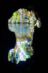 (Liane FKL) Tags: sintra portugal colors couleurs grotte cave caverne eau water lac reflets reflection nature way passage