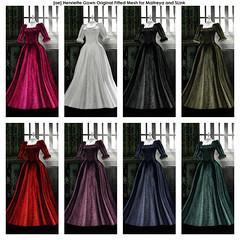 [ae] Henriette All Colours (sachi_vixen) Tags: ae adamneve secondlife avatar mesh gown rp we love role play wlrp versailles maitreya lara magika lotus anya catwa catya