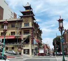 where are we? (rovingmagpie) Tags: california sanfrancisco chinatown shopping shop summer2018 pagodastyle hilly lanterns