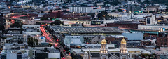 hidden division street (pbo31) Tags: bayarea california nikon d810 fall color night october 2018 boury pbo31 civiccenter sanfrancisco city urban rooftops siemer view over panorama large stitched panoramic church religion stjoseph mission soma traffic lightstream street 10 centralfreeway ramp motion skyline
