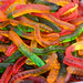 Close Up on the Gummy Worm Candies