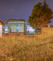 shady shady places (d1l093) Tags: train night photography sony a5100 50mm olympus zuiko 18 vintage shooting grading sonyalpha nightcrawler blue purple orange atmosphere