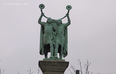 ... it is said that they will blow thier horns whenever a virgin passes by - to my knowledge nobody's ever heard a single sound so far ;-) ... (ChristianofDenmark) Tags: christianofdenmark copenhagen denmark winter statue vikings horns