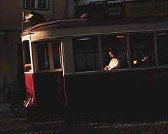Lisbon       Illuminated Journey (JB_1984) Tags: woman person passenger tram transport publictransport light shadow goldenhour alfama lisbon lisboa portugal nikon d500 nikond500