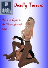 cover (sharonny2016) Tags: deadly terrors cover mazra vs logan catfight haunted house monsters ghosts pantyhose