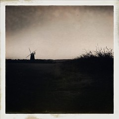 Burnham Overy Staithe Mull (davewilkinson5) Tags: hipstamatic johns uchitel20 hipstaoftheday architecture blackandwhite bw landscapes monochromatic