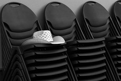 Hat (arbyreed) Tags: arbyreed hat cowboyhat chairs meeting monochrome bw blackandwhite afton lincolncountywyoming explore