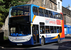 15699 PX60 BFE 10-2018 (Cumberland Patriot) Tags: stagecoach north west england cumbria cumberland motor services cms morecambe white lund depot scania n230ud adl alexander dennis ltd enviro 400 e400 15699 px60bfe low floor double decker bus derv diesel engine road vehicle lancaster route service ten 10
