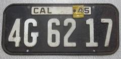 California.1945 (rickpaulos) Tags: california license plate 1945