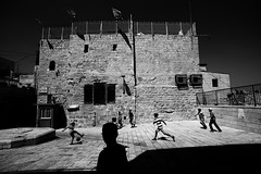Jerusalem (Hemo Kerem) Tags: israel street a7rm2 a7rii nikon20mmf4ai nikkor20mmf4ai ai20mmf4 ai420 20mm manualfocus mf nikon nikkor sony sonya7rm2 ilce7rm2 alpha jerusalemoldcity oldcity religion religious blackwhite bw kids football play