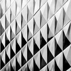 facade (morbs06) Tags: cologne hohestrase köln abstract architecture building bw city diagonal facade light lines pattern reflections repetition square stripes texture