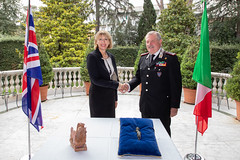 UK-Italy dialogue on protection of cultural heritage (UK in Italy) Tags: culture bsr art artefacts carabinieri jill morris villa wolkonsky rome italian police investigation return etruscan mark lancaster british english met army acra school council collaboration cultural heritage partnership partnering ukgb england italy