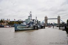 Londres : le croiseur HMS Belfast (CpaKmoi) Tags: royaumeuni angleterre londres london croiseur hmsbelfast tamise towerbridge