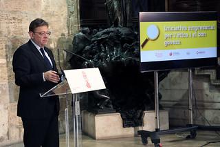 El president de la Generalitat, Ximo Puig, asiste a la presentación de la declaración de la Iniciativa Empresarial por la Ética y el Buen Gobierno. (16/10/2018)