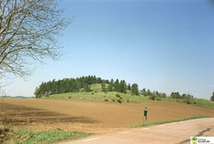 tm_5703 (Tidaholms Museum) Tags: färgat positiv natur skog himmelsblå landsväg åkermark