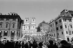Piazza Di Spagna (tommaso.piccoli) Tags: roma bn blackandwhite analogicait piazza di spagna