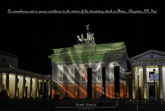 In remembrance and in sincere condolences to the victims of the devastating attack in Ahwas - Chuzestan, IR Iran - May those responsible be held accountable. (Real_Aragorn) Tags: remembrance sincere condolences victims devastating attack ahwas chuzestan ir iran berlin brandenburger tor