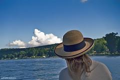Picton Bay (gabi-h) Tags: pictonbay picton clouds water fromaboat girlwithhat gabih blue white waves trees green latesummer