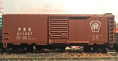 HO Scale 40ft Pennsylvania Boxcar (atjoe1972) Tags: train modelrailroad hoscale 187 layout diorama atjoe1972 ahm boxcar prr pennsy pennsylvania railroad custom paint decals kit rtr toy