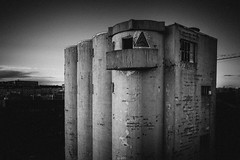 silo (miemo) Tags: dji europe finland mavic2 mavic2pro abandoned aerial architecture autumn bw balcony blackandwhite building city concrete derelict drone exterior hakaniemi helsinki outdoor silo tower uusimaa fi