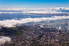 A City by the Sea (thisbrokenwheel) Tags: africa tablemountain climb landscape nature nationalpark clouds atlantic southafrica geology hiking outdoors capetown ocean travel sky mountain
