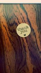 Thank You 💖 (Georgie_grrl) Tags: sticker thankyou givethanks love sweet streetcar ttc toronto