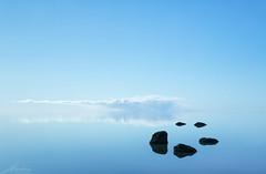 Infinity..... (R.Price) Tags: 2018 copyrightrichardprice freedomphotographic holtsoslagoon iceland leefilters negativespace blue cloud rocks nohorizon