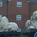Great Bridge roundabout lion sculptures
