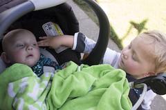 Paul and Eliza (quinn.anya) Tags: paul eliza baby toddler stroller brother sister jellystonepark