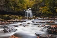 The Cauldron Falls, West Burton, Yorkshire (Jacob Arnold Photo) Tags: nikkor2470 river amateur nikond850 nikondigital d850 nikon orange red autumn colours wildlife tourism longexposure water nature uk england north dales moors york visityorkshire yorkshire foss waterfall
