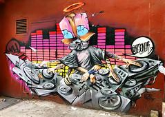 Mixmaster by Zesoner (wiredforlego) Tags: graffiti mural streetart urbanart publicart aerosolart eastvillage manhattan newyork nyc zesoner