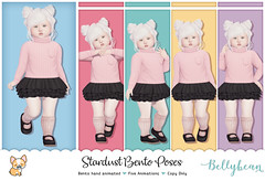 { Bellybean } Stardust Bento Poses AD (Bella Parker) Tags: secondlife sl slevent slfamily slblog slpose slbento bento bentopose toddleedoo toddler td tdevent tdposes