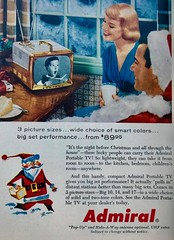 Admiral Portable TV (saltycotton) Tags: homeentertainment television tv admiral holidays christmas santaclaus milk readersdigest vintage magazine advertisement ad 1956 1950s