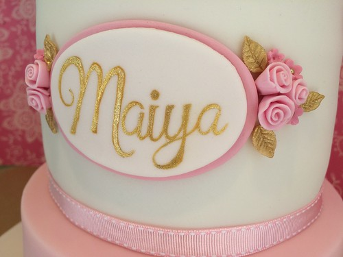 Birthday Cake Girls Name Plaque