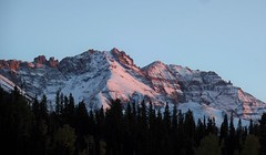 Sunset in the San Juan Mountains (Ruby 2417) Tags: sunset alpenglow telluride colorado san juan rocky rockies mountain snow fall autumn nature scenery