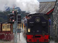 Welsh Highland Railway Loco 87. (Gerry Hat Trick (was Wontolla1)) Tags: welsh highland porthmadog loco locomotive narrow guage wales steam station smoke carriage train railway