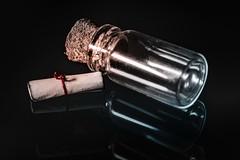 Perfect Match (Alejandro Lluvia) Tags: macromondays bottle message secret tiny macro bokeh dark glass reflection