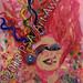 """Little Sister Delirium"" by Bat C, mixed media, $100.00"