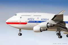 10001 - Korea Government | ORY (Karl-Eric Lenne) Tags: 10001 republic korea government 744 boeing 747 aviation paris orky landing ory president runway 26