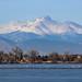 Longs Peak and Mount Meeker from Barr Lake, near Denver, Colorado