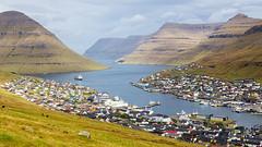 Klaksvik, Faroe Islands (diesmali) Tags: klaksvík eysturoy faroeislands fo fjord mountains town city houses ship clouds sky landscape canoneos6d travel canonef24105mmf4lisusm