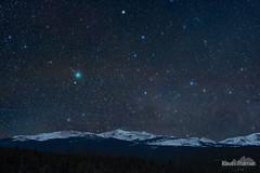 Comet 46P/Wirtanen Wide (kevin-palmer) Tags: bighornmountains bighornnationalforest loafmountain peak snow snowy cold december winter night sky stars starry space astronomy astrophotography dark early morning nikond750 nikon50mmf14nikkorafd comet 46pwirtanen green coma ioptronskytracker longexposure clear astrometrydotnet:id=nova3090666 astrometrydotnet:status=solved