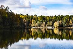 Autumn by the Lake (Rudi Pauwels) Tags: goteborg gothenburg sverige sweden schweden reflections water lake lakedelsjön autumn fall herbst herfst clouds sky tamron 18270mm tamron18270mm nikon d7100 nikond7100 waterreflections